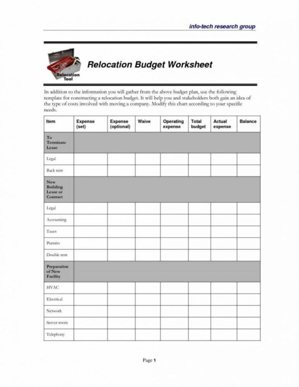 Moving Budget Spreadsheet Within Spreadsheet Examples Moving Expenses Template Free Budget Templates