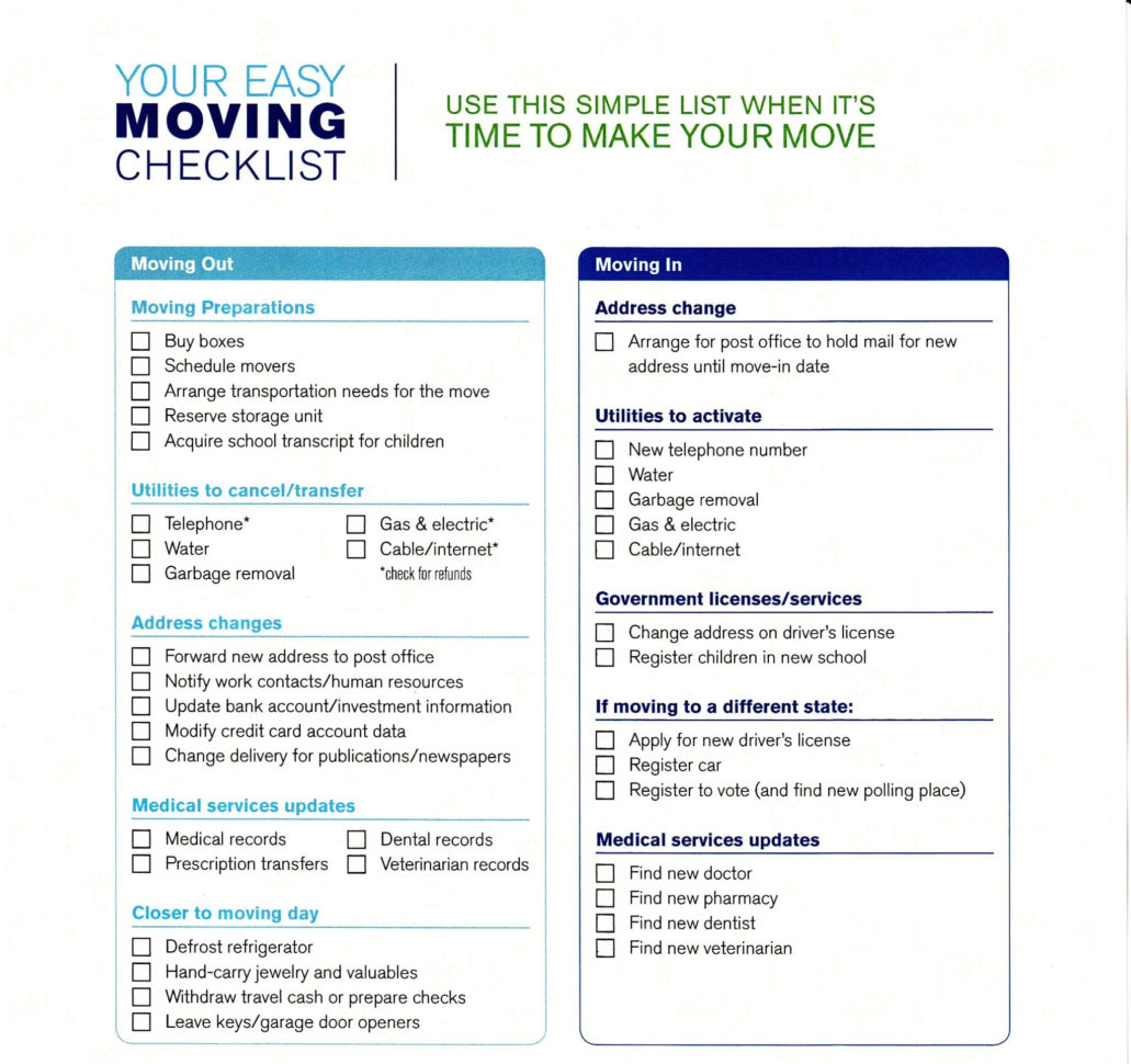 Moving Checklist Spreadsheet Throughout 5  Moving Checklist Templates – Word Templates