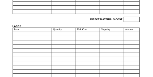 Moving Cost Spreadsheet Regarding Moving Expenses Spreadsheet Template Unique Printable Job Estimate
