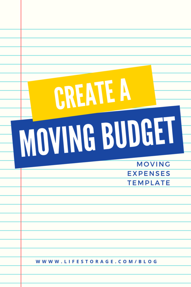 Moving Expenses Spreadsheet Template In Create A Realistic Moving Budget Using This Guide
