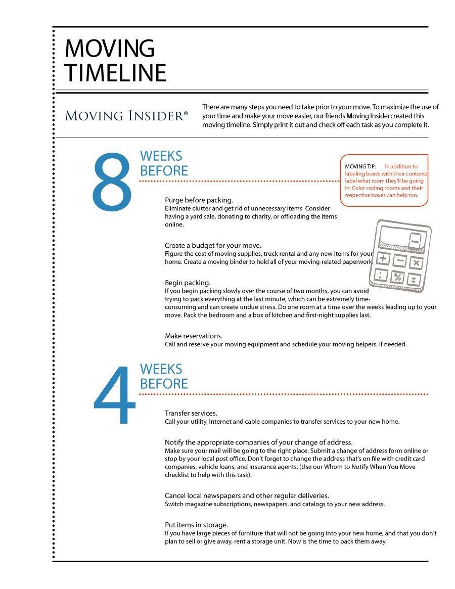 Moving House Checklist Spreadsheet Regarding 45 Great Moving Checklists [Checklist For Moving In / Out