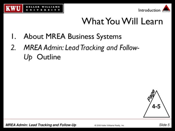 Mrea Business Planning Spreadsheet In Mrea Admin: Lead Tracking And Followup  Ppt Download