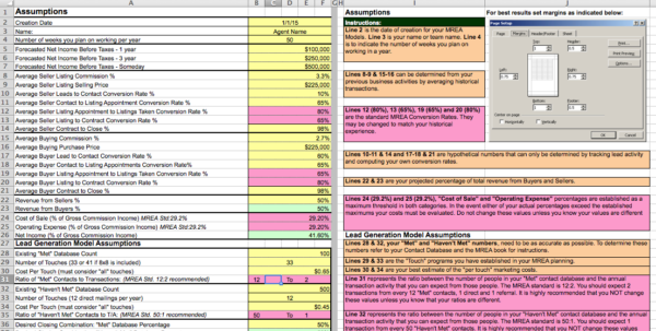 Mrea Economic Model Spreadsheet With The Millionaire Real Estate Agent 4 Models Spreadsheet  Keller