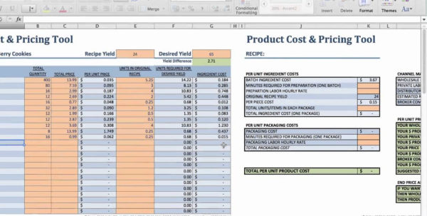 Msp Pricing Spreadsheet With Food Product Cost Pricingeadsheet Download Xls Small Business