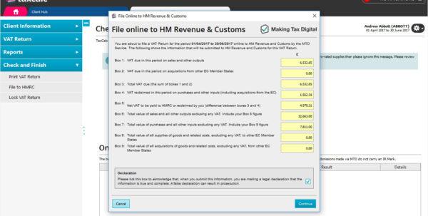 Mtd Spreadsheets Throughout Vat Filer  Taxcalc