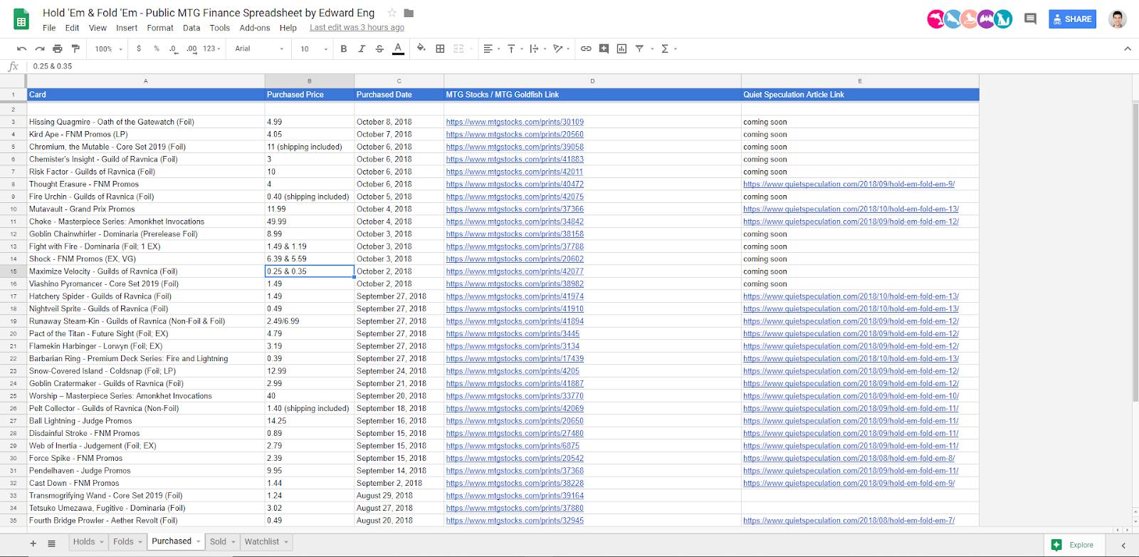 Mtg Spreadsheet Regarding Hold 'em  Fold 'em #14  Quiet Speculation