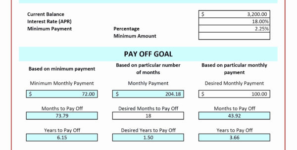 Multiple Credit Card Payoff Calculator Spreadsheet With Regard To Credit Card Repayment Calculator. Step Evaluate Your Credit Card