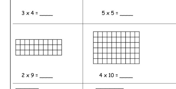 Multiplication Spreadsheet With Regard To Multiplication Array Worksheets From The Teacher's Guide