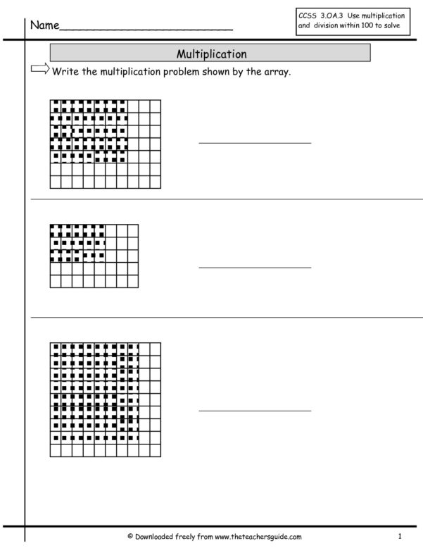 Multiplication Spreadsheet Within Multiplication Array Worksheets From The Teacher's Guide