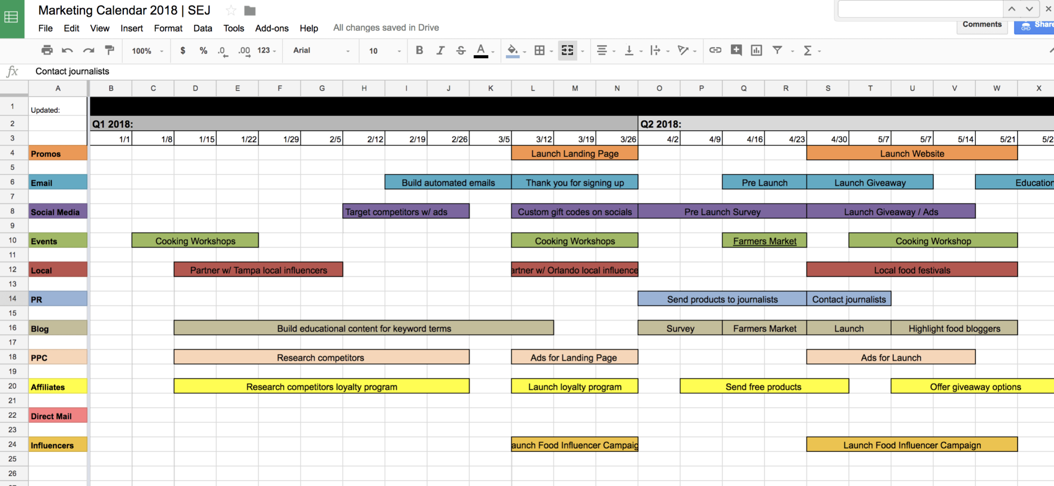 Music Festival Budget Spreadsheet Inside Music Festival Budget Spreadsheet You Need This Marketing Calendar