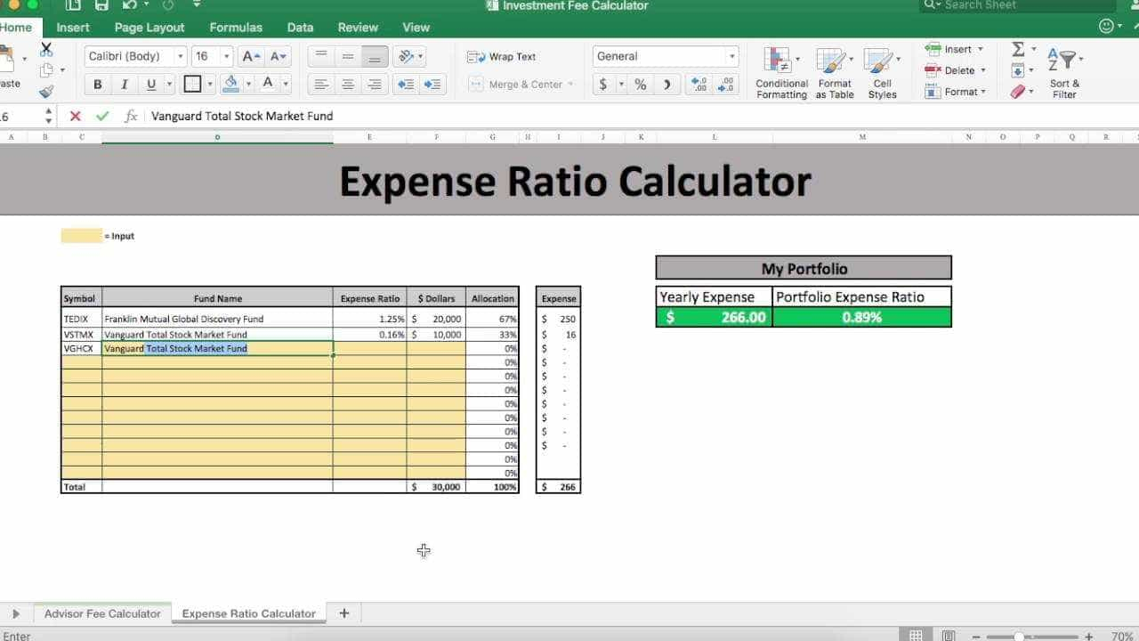 Mutual Fund Spreadsheet In Expense Ratio Mutual Fund Calculator  Pulpedagogen Spreadsheet