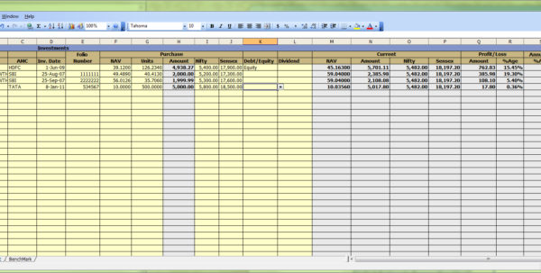 Mutual Fund Spreadsheet In Google Spreadsheet Portfolio Tracker For Stocks And Mutual Funds