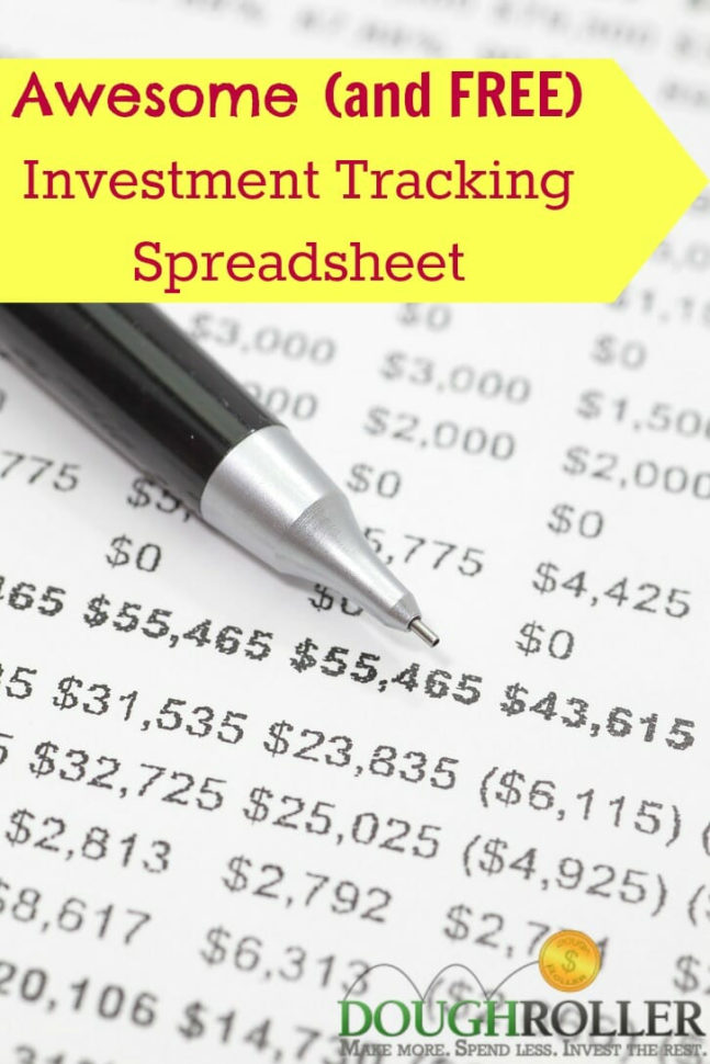 Mutual Fund Tracking Spreadsheet Regarding An Awesome And Free Investment Tracking Spreadsheet