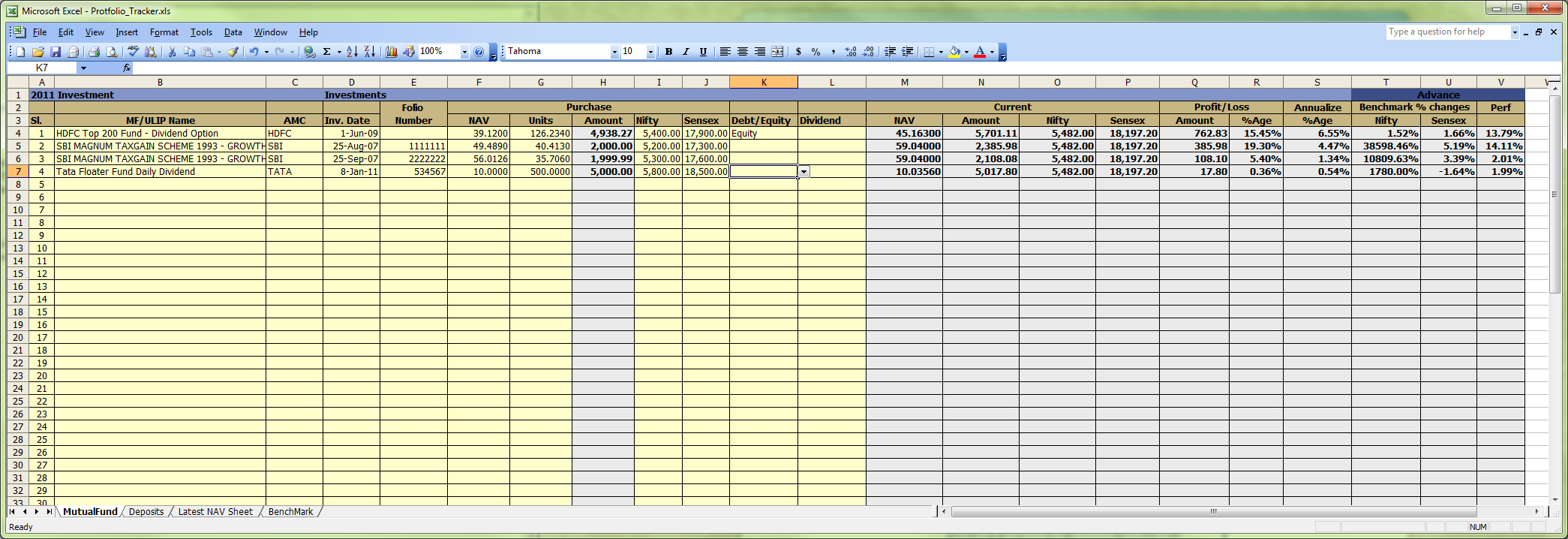 Mutual Fund Tracking Spreadsheet Within Google Spreadsheet Portfolio Tracker For Stocks And Mutual Funds