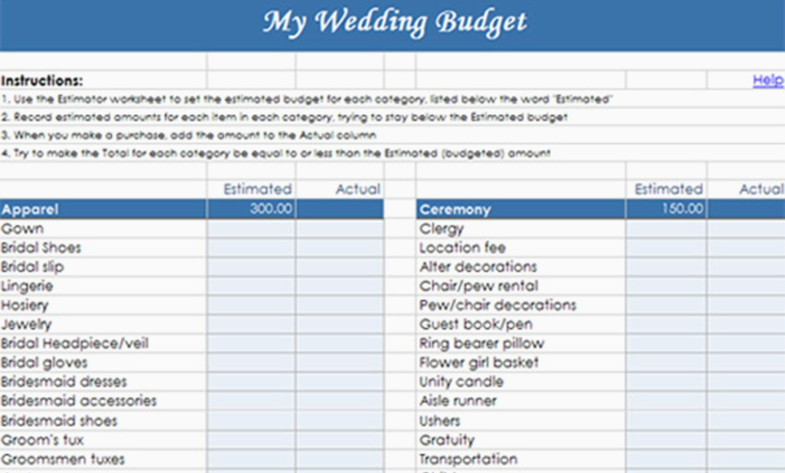 My Budget Spreadsheet Pertaining To Destination Wedding Budget Spreadsheet My Templates  Parttime Jobs