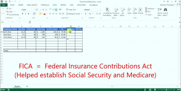 Nanny Payroll Spreadsheet Inside Image Titled Calculate Payroll Taxes Step 9. Freeware Download