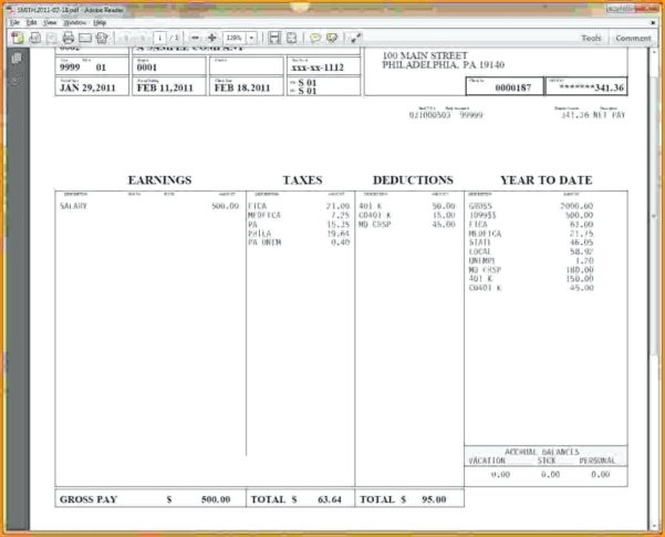 Nanny Payroll Spreadsheet Throughout Template: Nanny Pay Stub Template Topic Related To 9 Free Templates