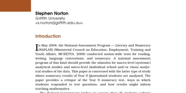 Naplan Analysis Spreadsheet Pertaining To Pdf The Practice Of Using Naplan Numeracy Test Results: A Review Of