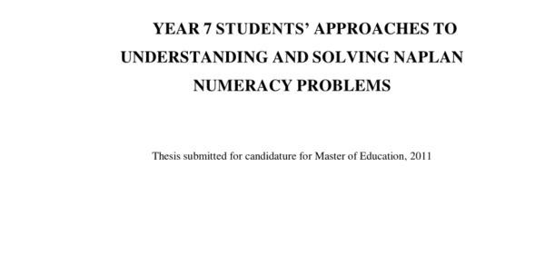 Naplan Analysis Spreadsheet With Regard To Pdf Year 7 Students' Approaches To Understanding And Solving Naplan