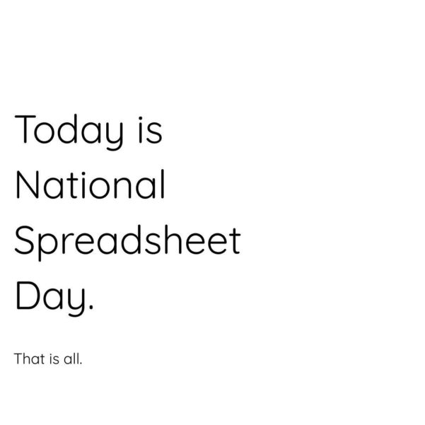 National Spreadsheet Day With Spreadsheetday Photos  Visiteiffel