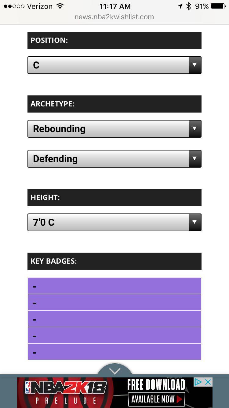 Nba 2K18 Badges Spreadsheet within The Best Myplayer Tool For Nba 2K18! Detailed Data, Badges