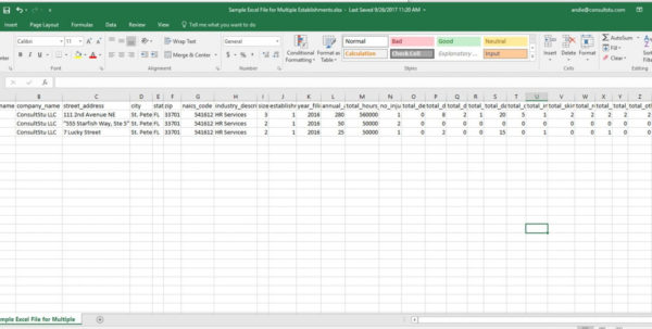 Ncci Edits Excel Spreadsheet Pertaining To Ncci Edits Excel Spreadsheet Sample Multiple Establishments Examples