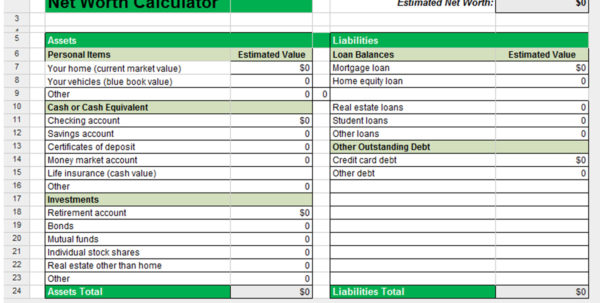 Net Worth Spreadsheet Canada Throughout Spreadsheet Net Worth Excel Template Financial Statement Templates