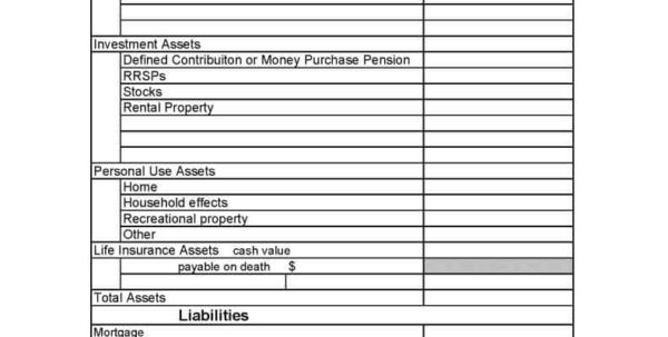 Net Worth Spreadsheet Canada With Regard To Personal Finance Net Worth Worksheet And Personal Net Worth
