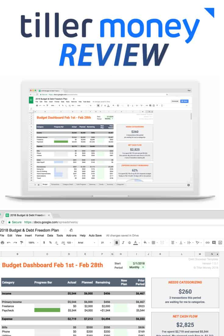 Net Worth Tracker Spreadsheet For Tiller Money Review 2019: Automated Budget Spreadsheets In Google Sheets
