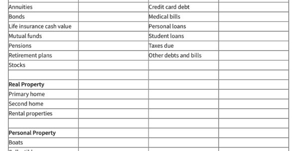 Net Worth Tracker Spreadsheet Regarding 3 Simple Spreadsheets To Take Control Of Your Finances