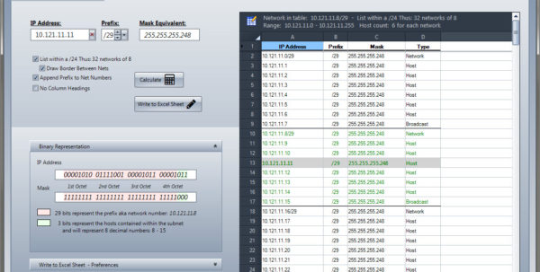 Network Bandwidth Calculator Excel Spreadsheet Pertaining To Check The Network  Ip Tools For Excel Addin / Plugin