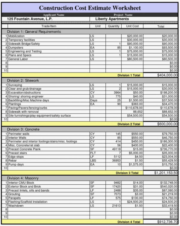 New Home Construction Cost Spreadsheet Inside Free House Building Cost Spreadsheet With New Construction Budget