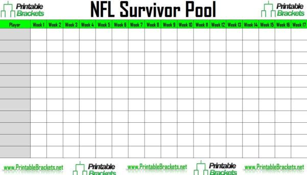 Nfl Confidence Pool Spreadsheet Intended For Nfl Survivor Pool  Nfl Suicide Pool
