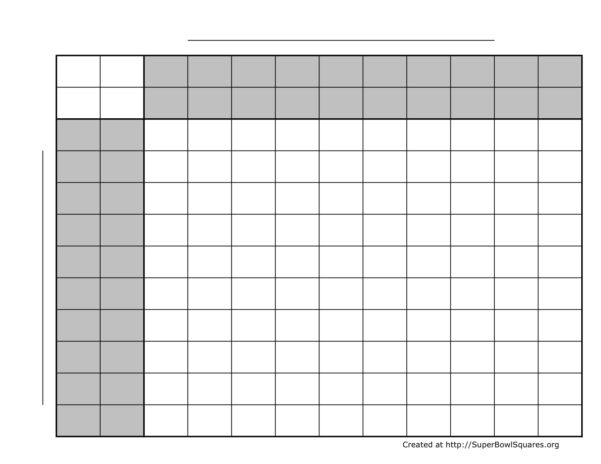 Nfl Football Spreadsheet With Regard To Printable Football Squares Sheets