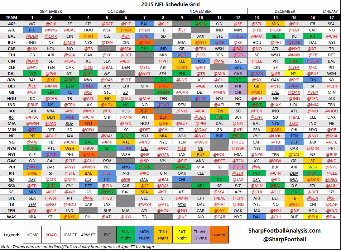 Nfl Spreadsheet Throughout Nfl Schedule Spreadsheet New Nfl Schedule 2018 Photos Jen Hill