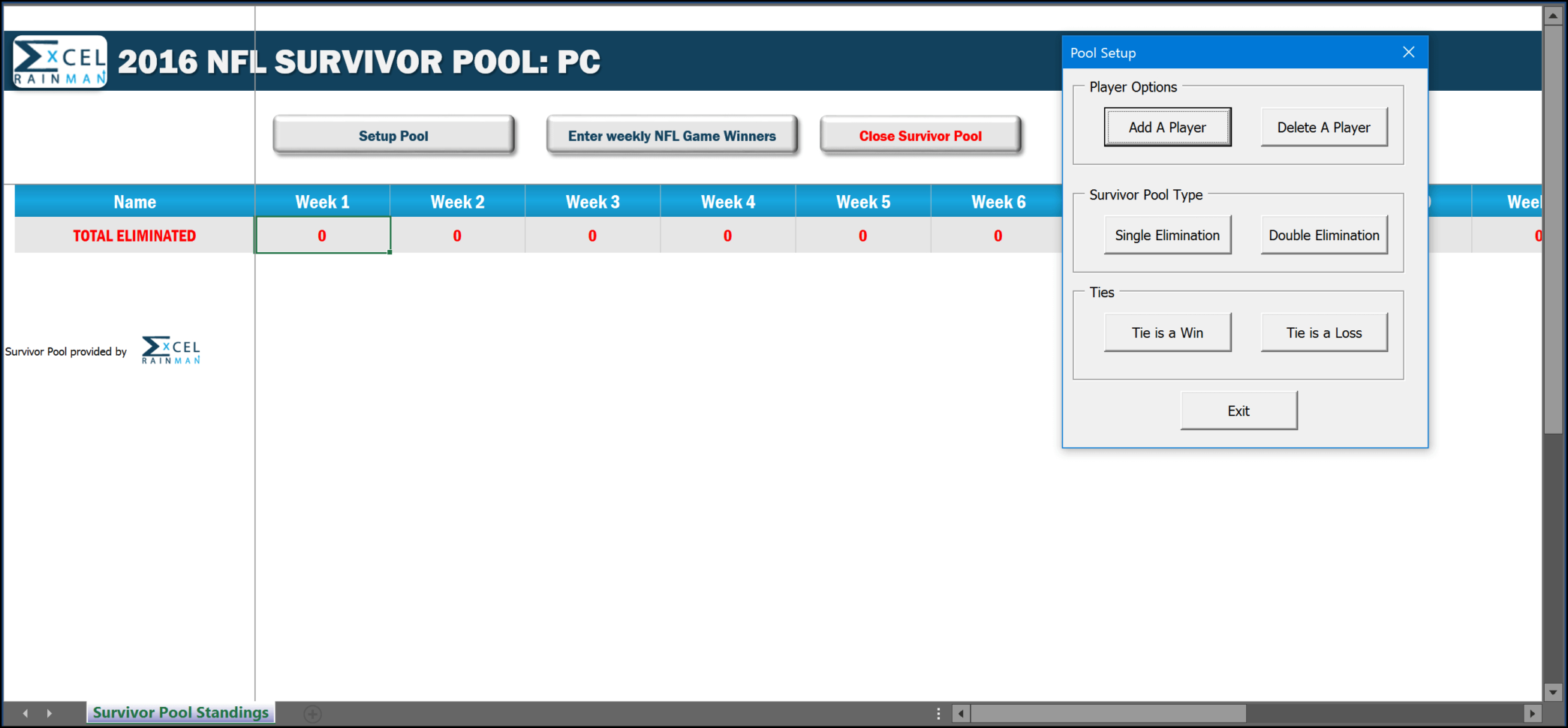 Nfl Suicide Pool Spreadsheet Pertaining To Spreadsheet Survivor Pool 2016  Erm
