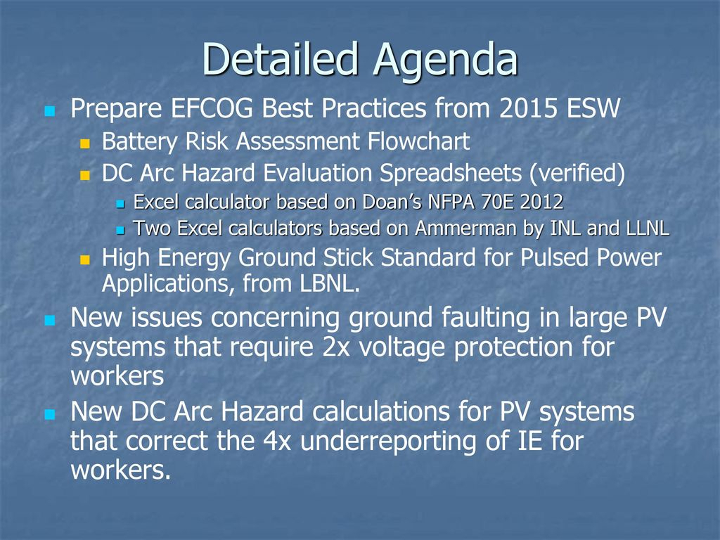 Nfpa 99 Risk Assessment Spreadsheet Intended For Dc Systems Working Group  Ppt Download