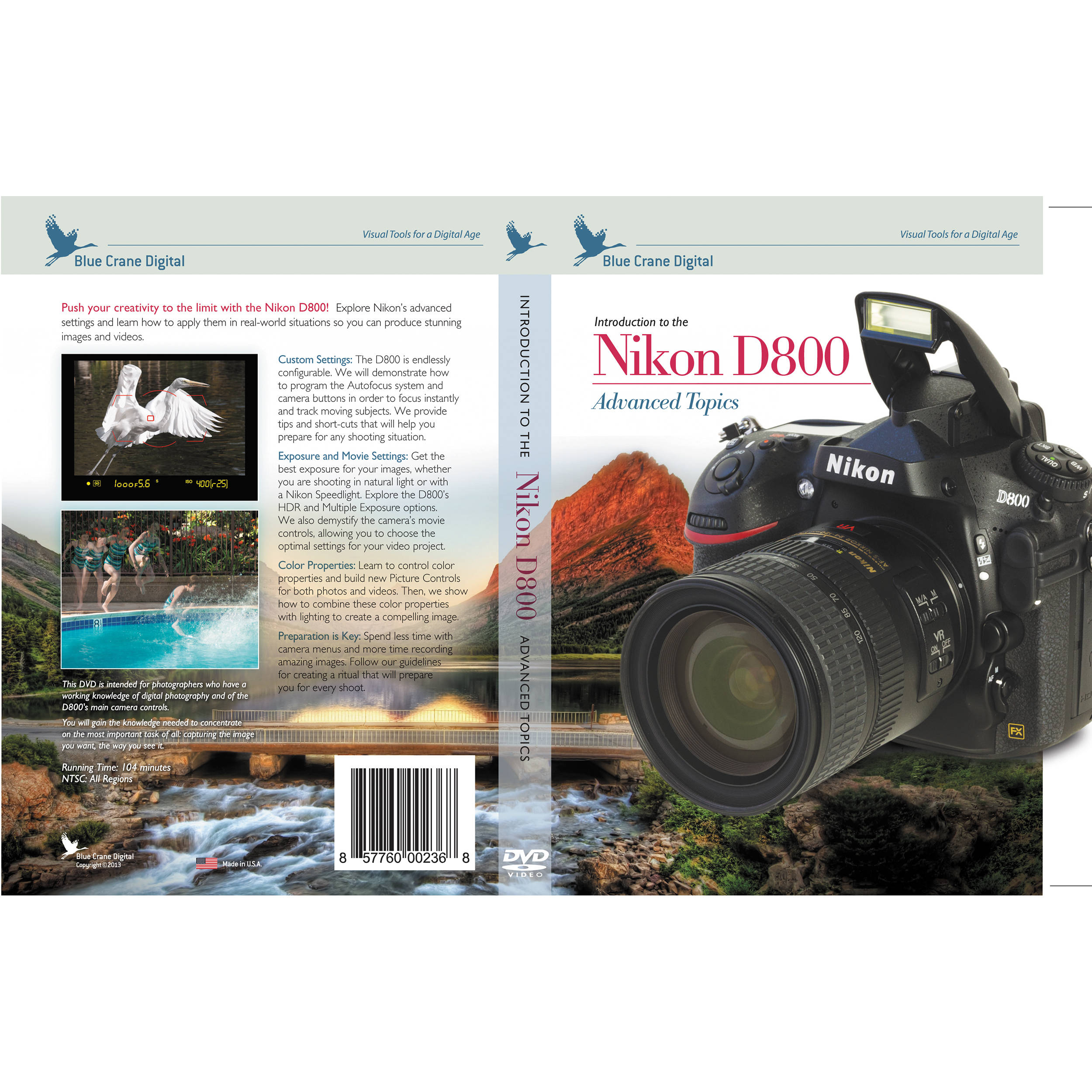 Nikon D800 Settings Spreadsheet Pertaining To Blue Crane Digital Dvd: Introduction To The Nikon D800: Bc152