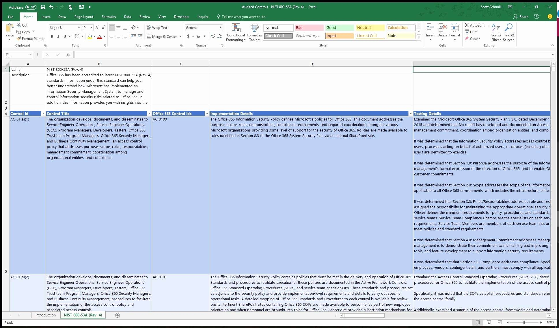 Nist 800 171 Spreadsheet With Nist 800 171 Spreadsheet With Nist Pliance Spreadsheets Sp Sheet Rev