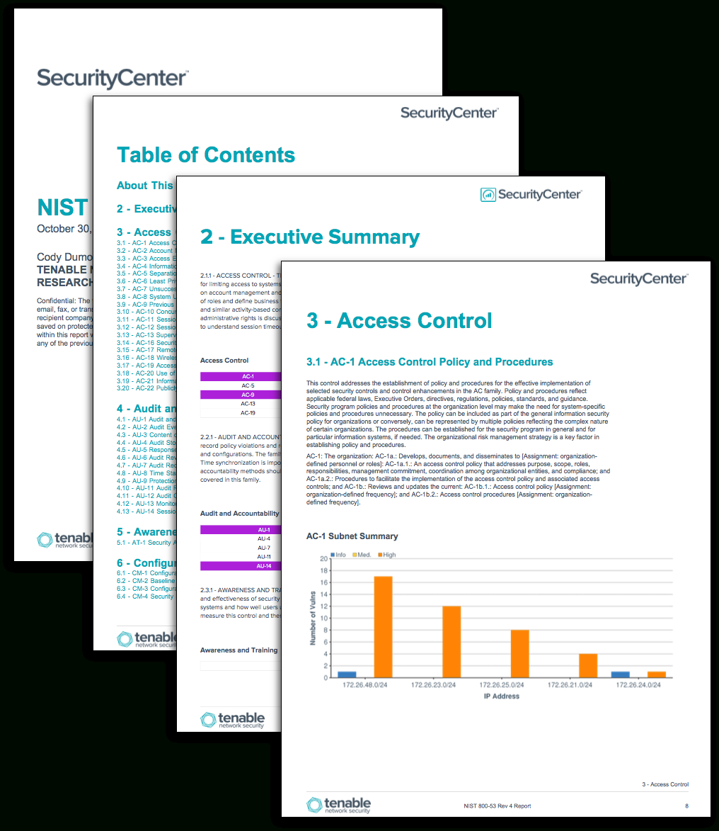 Nist 800 53 Rev 5 Controls Spreadsheet For Nist 80053: Configuration Auditing  Sc Report Template  Tenable®