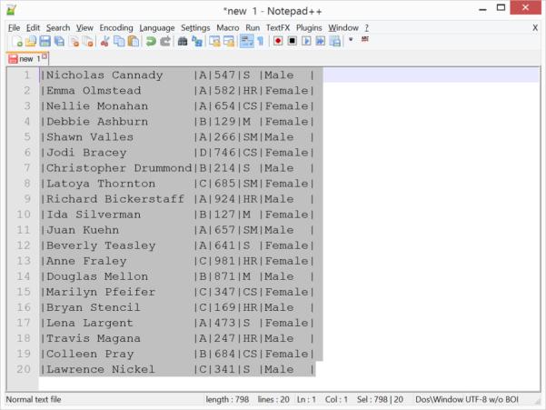 Notepad Spreadsheet Pertaining To Edit Columns In Notepad   With Textfx Plugin  Cathrine Wilhelmsen