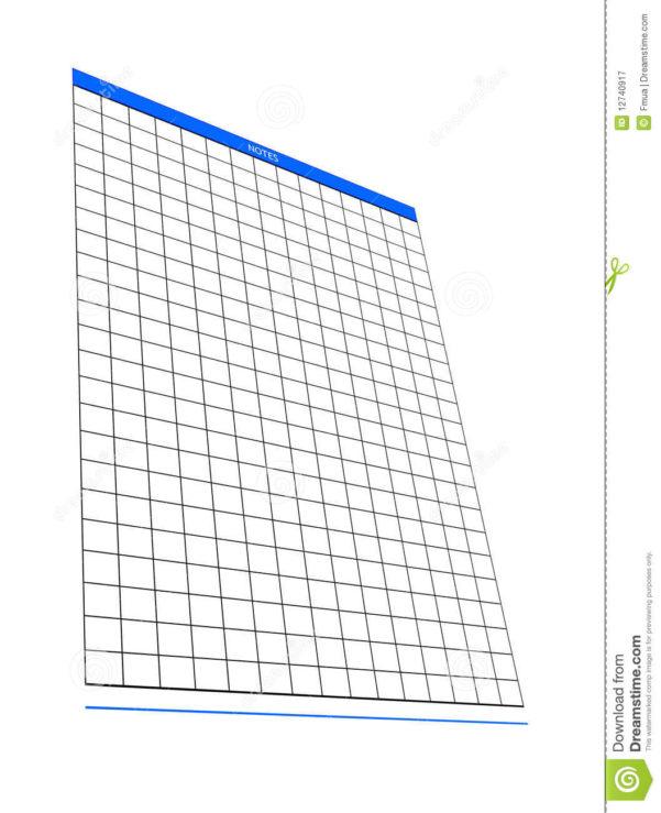 Notepad Spreadsheet With One Blank Notepad Organizer, Empty Spreadsheet, Stock Image  Image