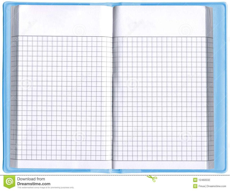 Notepad Spreadsheet With Regard To One Blank Notepad Organizer, Empty Spreadsheet, Stock Photo  Image