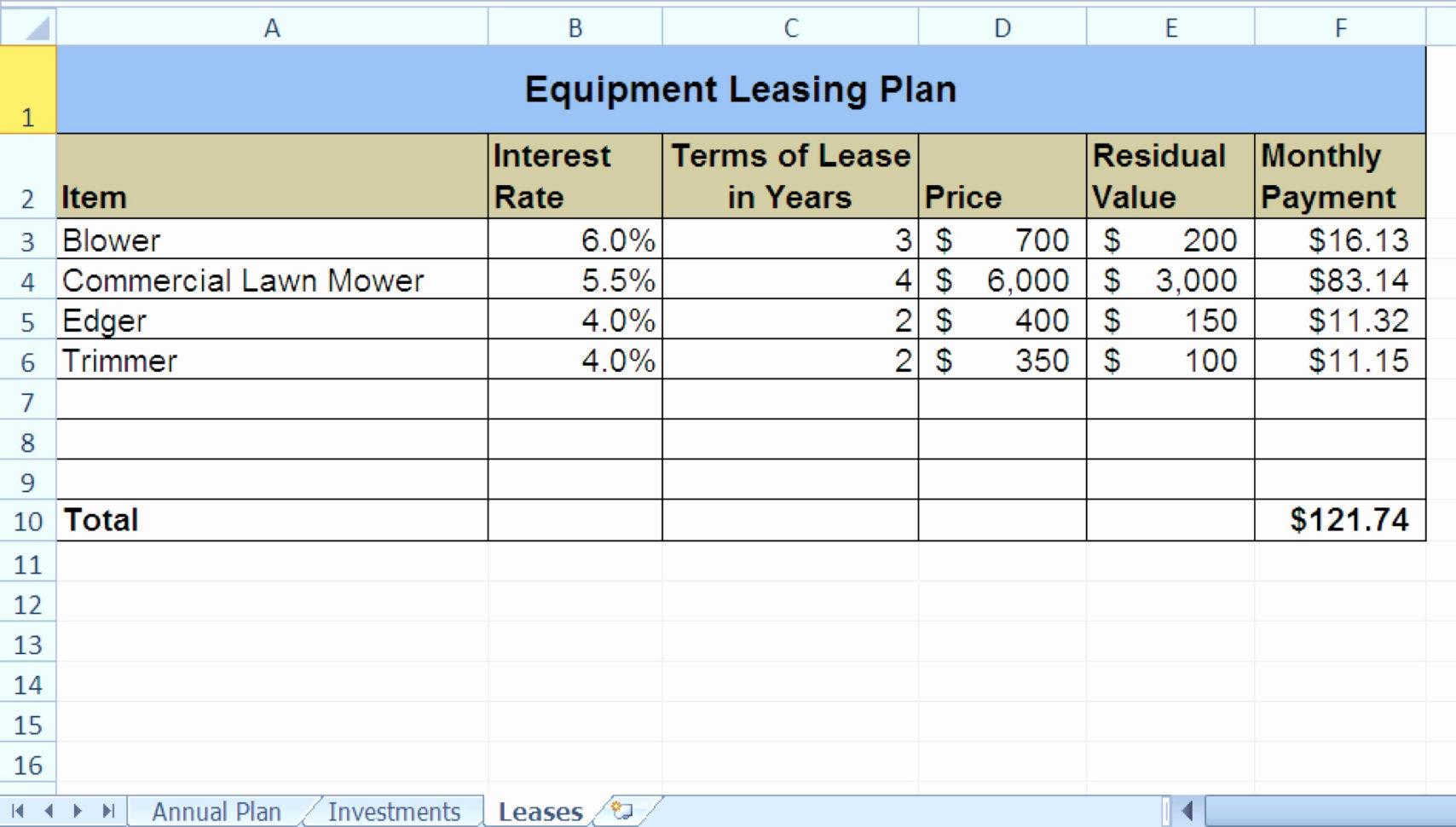 Novated Lease Calculator Excel Spreadsheet Pertaining To Equipment Lease Calculatorl Spreadsheet Car V Buy Ozil Almanoof On