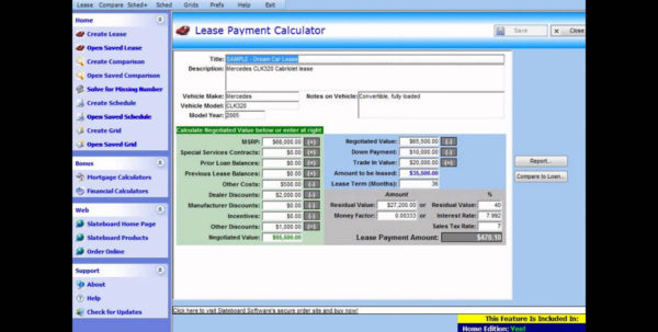 Novated Lease Calculator Spreadsheet Within New Car Lease Calculatordsheet Document Ideas Example Of Novated