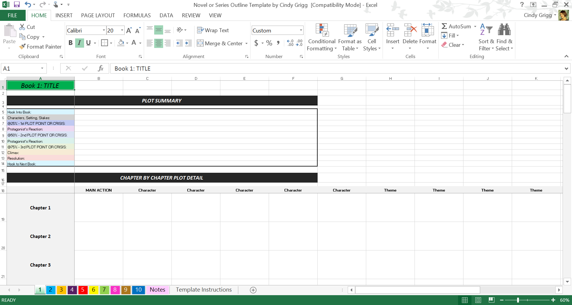 Novel Spreadsheet Template Throughout Free Novel Or Series Outline Template Inspiredj.k. Rowling