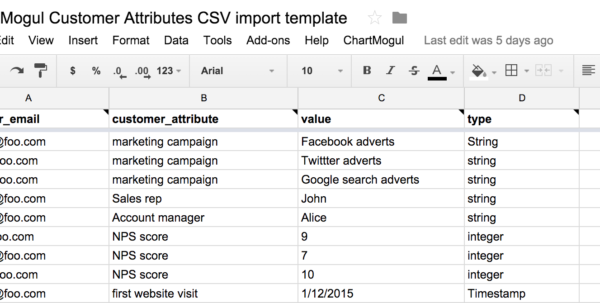 Nps Spreadsheet Template Pertaining To Importing Customer Attributes From A Google Sheet – Help Center