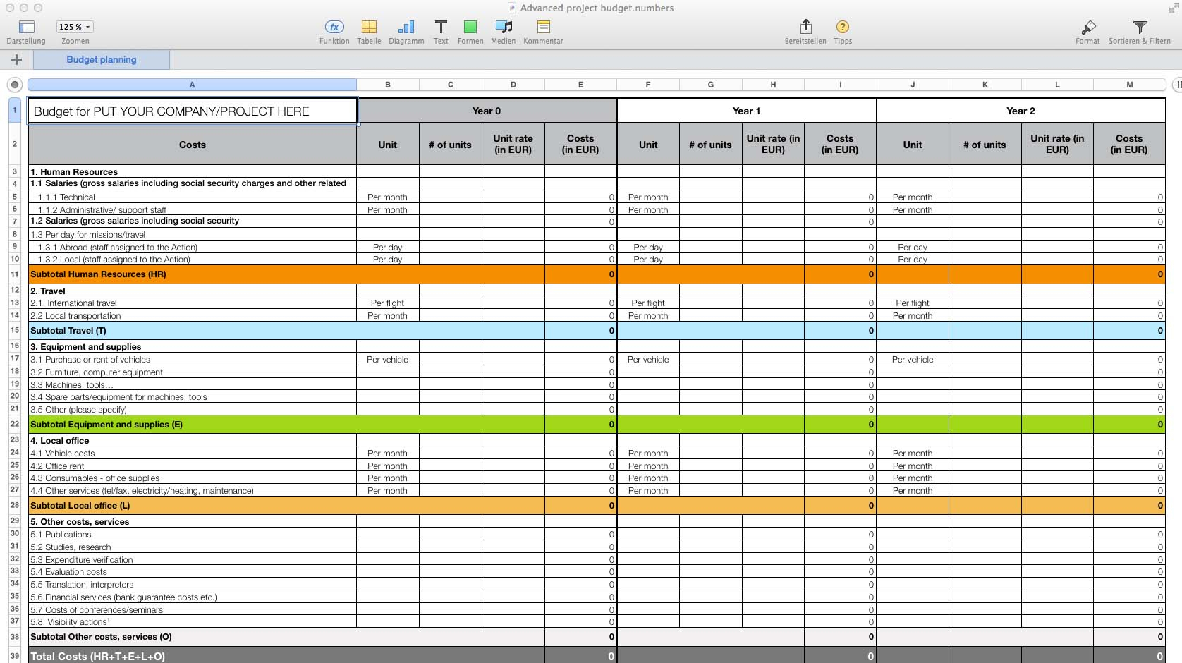 Numbers Budget Spreadsheet With Templates For Numbers Pro For Mac  Made For Use