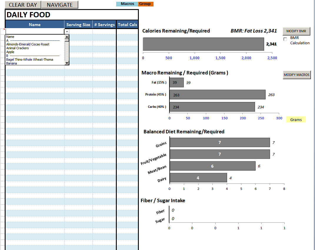 Nutrition Spreadsheet Template Inside Best Excel Sheet Diet Plan  Bodybuilding Forums