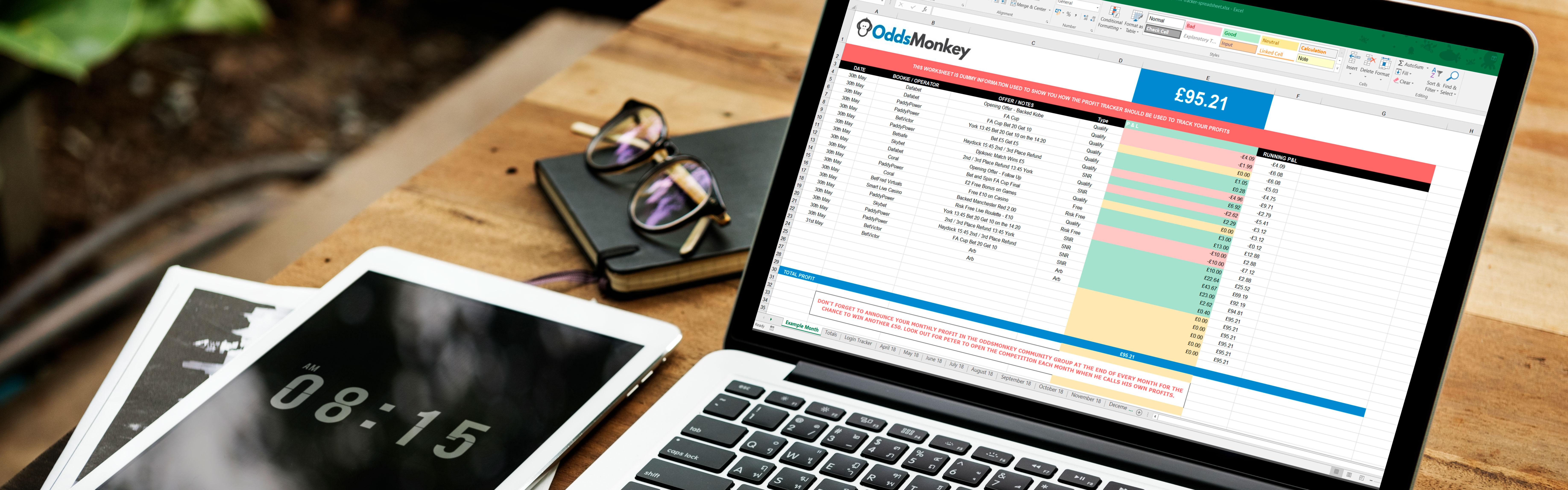 Oddsmonkey Spreadsheet Throughout Free Matched Betting Spreadsheet  Oddsmonkey Blog